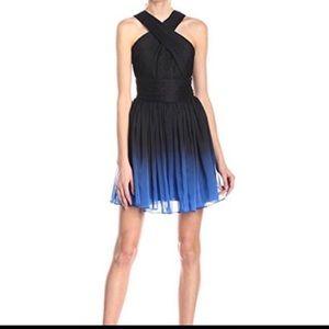 Sale Halston heritage ombre halter dress